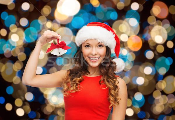 Glücklich Frau hat Weihnachten Feiertage Stock foto © dolgachov
