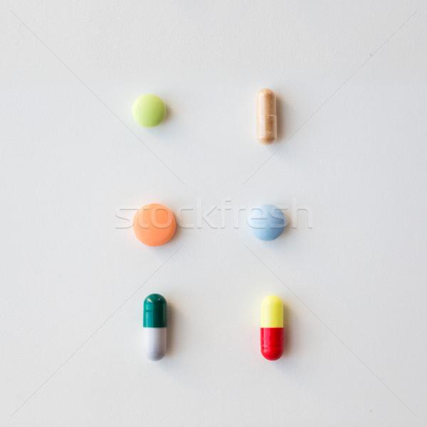 различный таблетки капсулы наркотики медицина здравоохранения Сток-фото © dolgachov