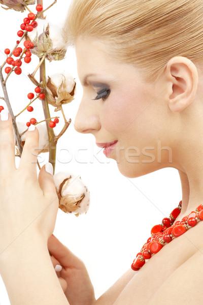 red ashberry girl Stock photo © dolgachov