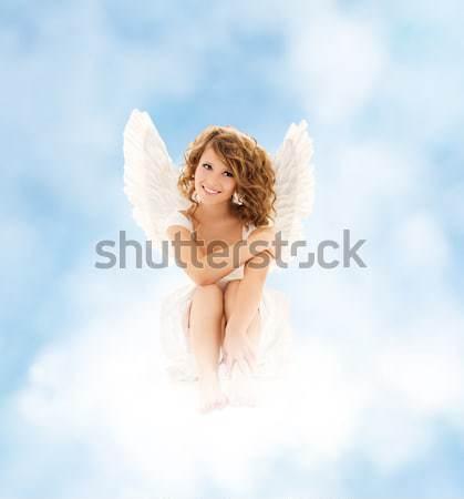 ランジェリー 天使 少女 白 女性 ストックフォト © dolgachov