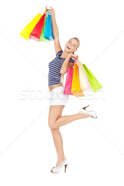 買い物客 画像 女性 ショッピングバッグ 幸せ ショッピング ストックフォト © dolgachov