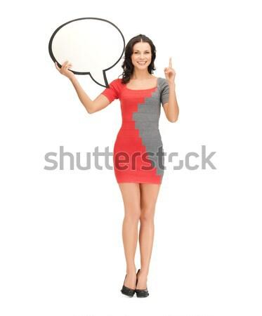 怒っ 女性 メガホン 明るい 画像 モデル ストックフォト © dolgachov