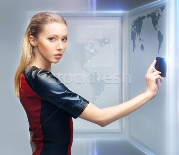 女性 アクセス カード 画像 未来的な 美 ストックフォト © dolgachov
