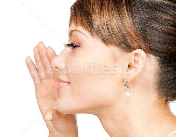 Mujer chismes brillante Foto mano Foto stock © dolgachov