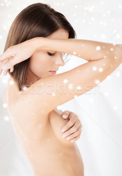 beautiful woman standing in towel Stock photo © dolgachov