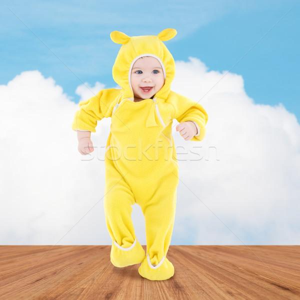 ストックフォト: 幸せ · 赤ちゃん · 最初 · 手順