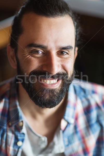 ストックフォト: 幸せ · 若い男 · あごひげ · 口ひげ · 人 · 男性