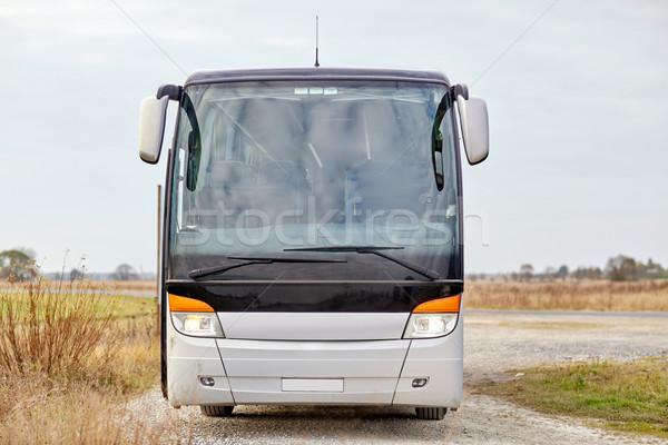Tour bus buitenshuis reizen toerisme weg Stockfoto © dolgachov