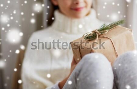 Mutlu erkek eşcinsel çift el ele tutuşarak Stok fotoğraf © dolgachov