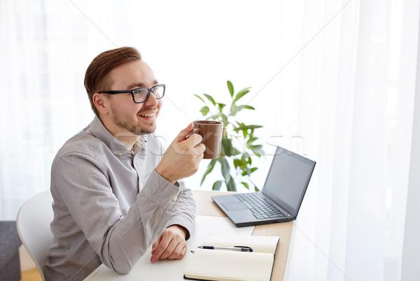 ストックフォト: 創造 · 男 · ビジネスマン · 飲料 · コーヒー · ビジネス