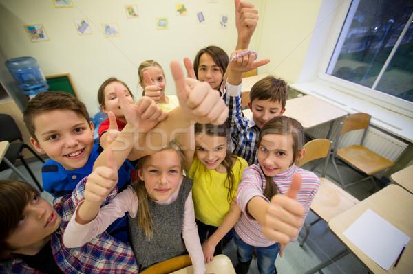 Stock fotó: Csoport · iskola · gyerekek · mutat · remek · oktatás