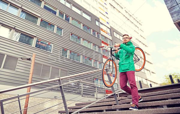 молодые человека зафиксировано Gear Сток-фото © dolgachov
