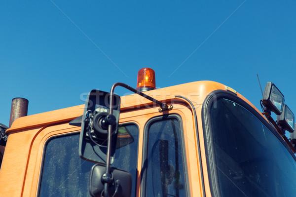 Weg dienst auto cabine vervoer Stockfoto © dolgachov