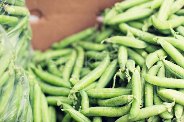 Stok fotoğraf: Yeşil · bezelye · kutu · sokak · pazar