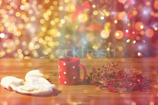 Muffole Natale decorazione vacanze inverno Foto d'archivio © dolgachov
