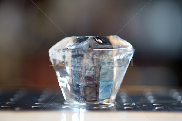 curved ice cube at bar Stock photo © dolgachov