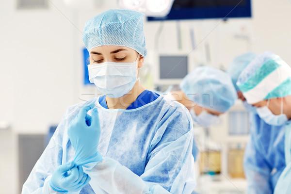 Chirurgo sala operatoria ospedale chirurgia medicina persone Foto d'archivio © dolgachov