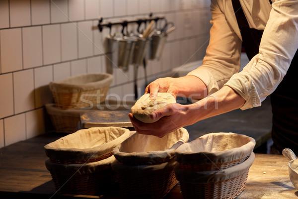 Bakker bakkerij voedsel koken Stockfoto © dolgachov