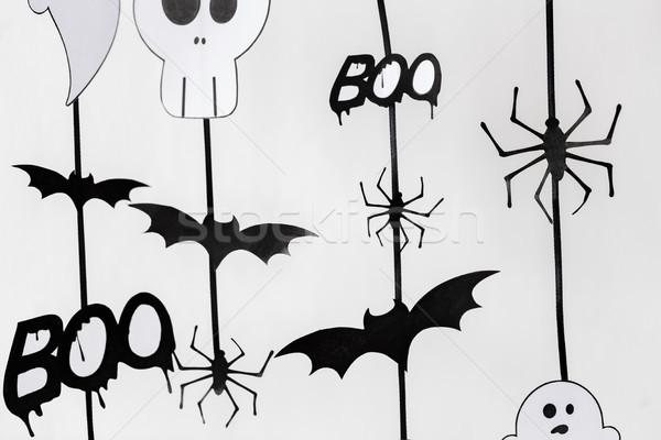 Stockfoto: Halloween · partij · papier · decoraties · vakantie · decoratie