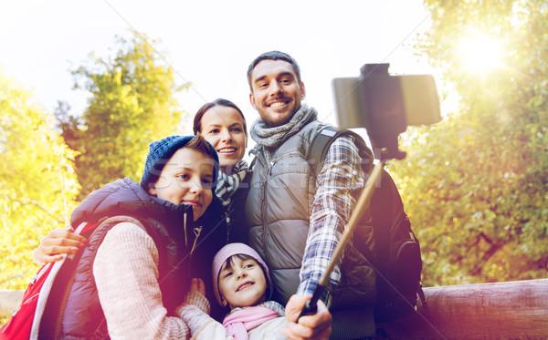 Família caminhadas viajar turismo marcha Foto stock © dolgachov