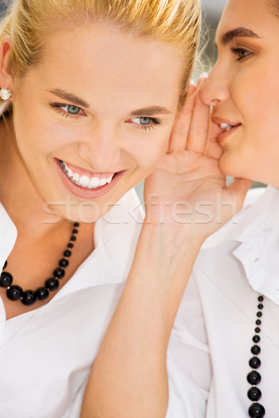 Секреты фотография два счастливым молодые Сток-фото © dolgachov