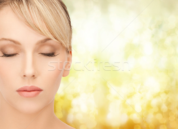 beautiful woman with blonde hair Stock photo © dolgachov