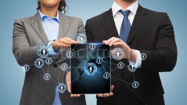Сток-фото: бизнесмен · деловая · женщина · бизнеса · технологий · интернет