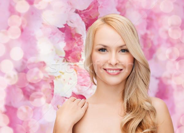 顔 肩 幸せ 女性 長髪 健康 ストックフォト © dolgachov