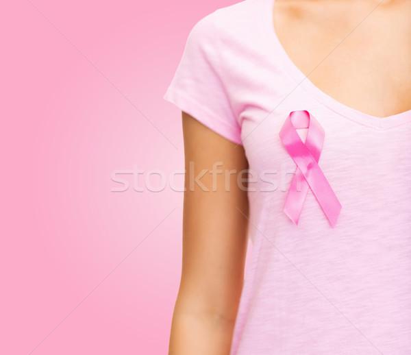 Donna cancro consapevolezza nastro sanitaria Foto d'archivio © dolgachov