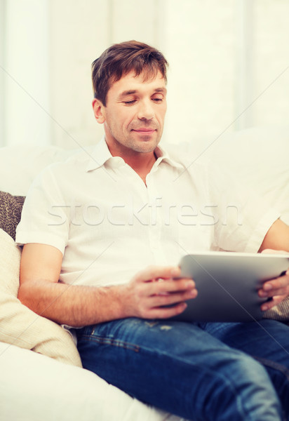 Man werken home technologie lifestyle Stockfoto © dolgachov