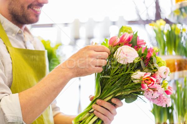 Florista hombre personas Foto stock © dolgachov
