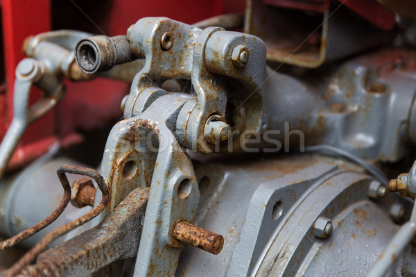 Oldtimer mechanisme industrie machines technologie Stockfoto © dolgachov