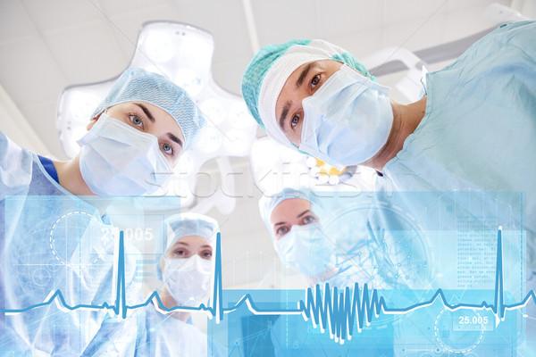 Gruppo chirurghi sala operatoria ospedale chirurgia sanitaria Foto d'archivio © dolgachov