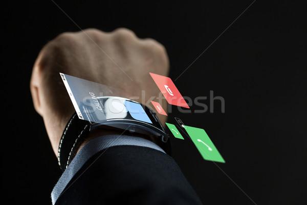 Empresário mão pessoas de negócios comunicação tecnologia Foto stock © dolgachov