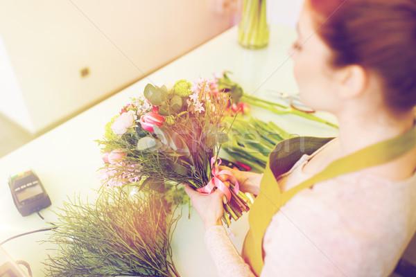 女性 花屋 人 ストックフォト © dolgachov