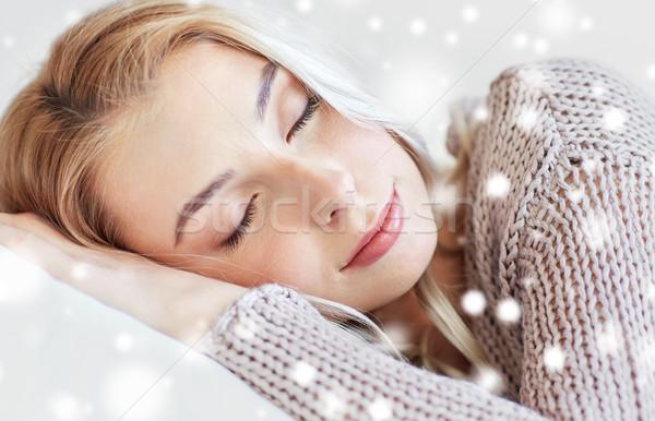 Stok fotoğraf: Kadın · genç · kız · uyku · dinlenmek · rüya