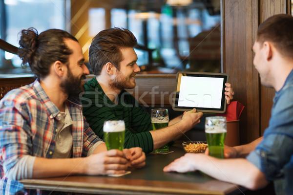 друзей зеленый пива Паб День Святого Патрика Сток-фото © dolgachov