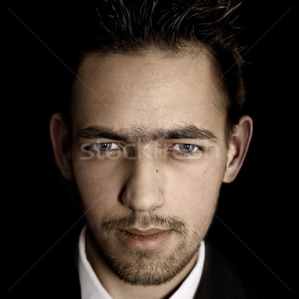 мафия адвокат Чикаго стиль мужчины портрет Сток-фото © dolgachov