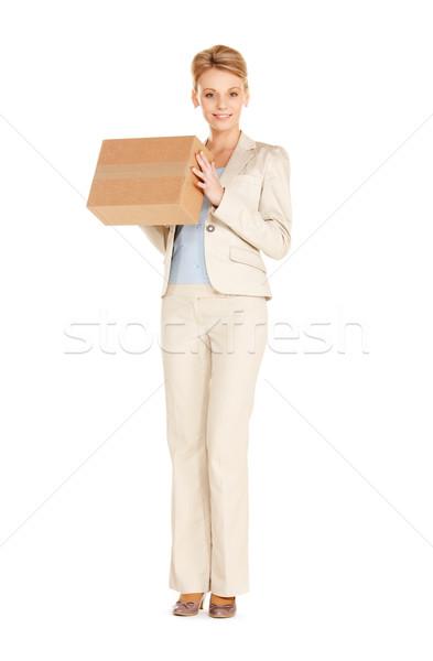 魅力的な 女性実業家 画像 女性 ボックス ストックフォト © dolgachov