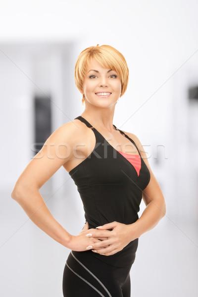 фитнес инструктор ярко фотография спортзал женщину Сток-фото © dolgachov