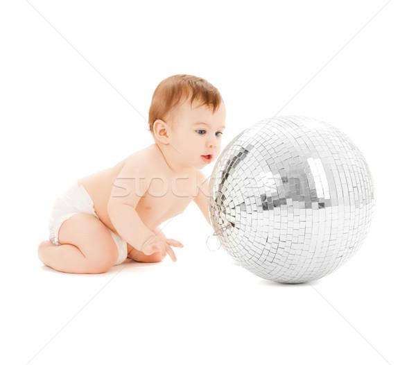 çocuk oynama disko topu parlak resim mutlu Stok fotoğraf © dolgachov