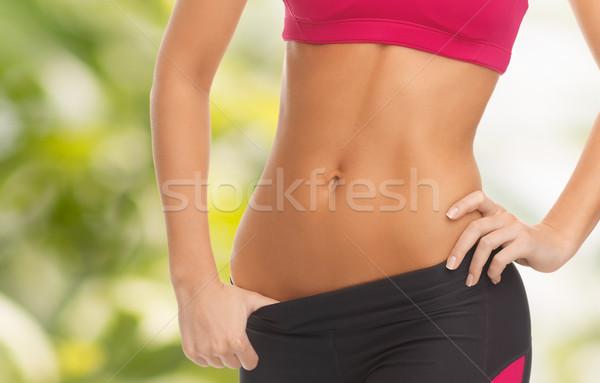 Nő képzett fitnessz diéta közelkép kép Stock fotó © dolgachov