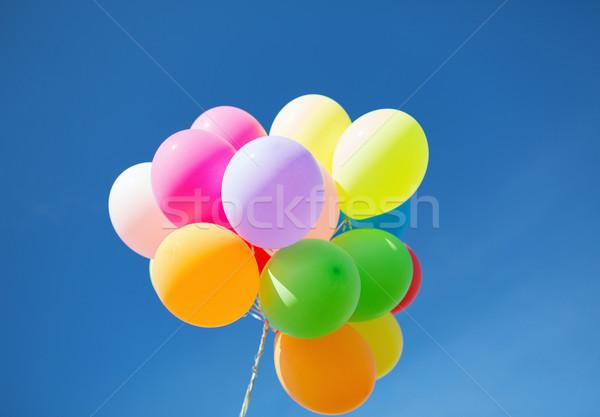Kleurrijk ballonnen hemel viering zon verjaardag Stockfoto © dolgachov