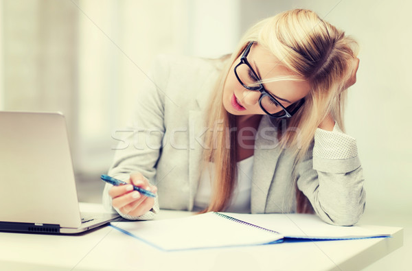 bored and tired woman Stock photo © dolgachov