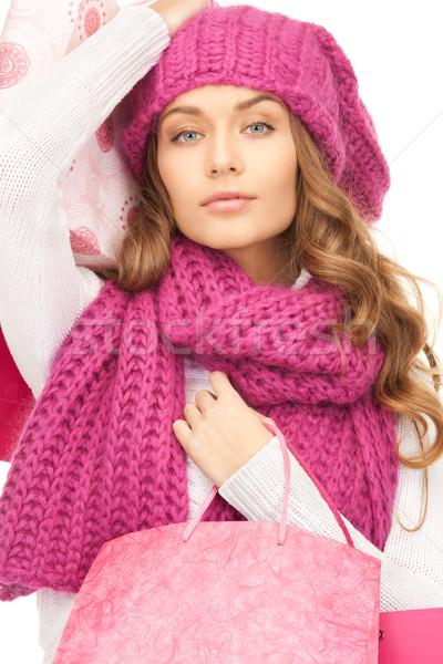 Klant vrouw witte meisje gelukkig Stockfoto © dolgachov