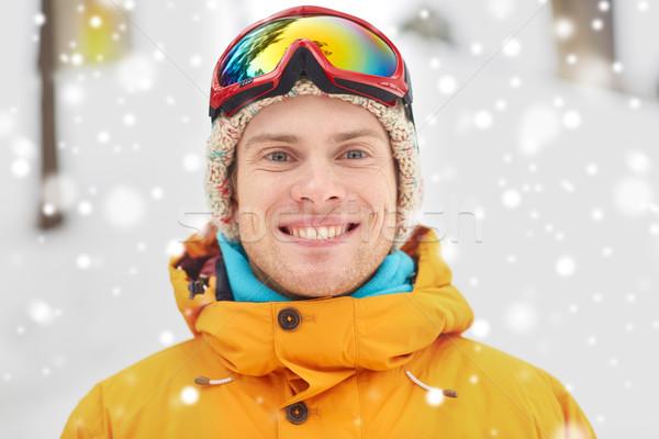 幸せ 若い男 屋外 冬 レジャー ストックフォト © dolgachov