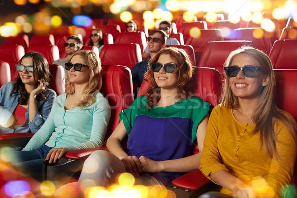Сток-фото: счастливым · друзей · смотрят · фильма · 3D · театра