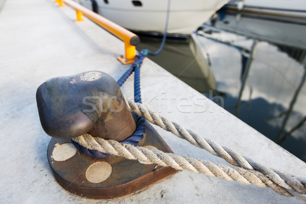 鉄 ロープ 桟橋 セーリング 安全 ストックフォト © dolgachov
