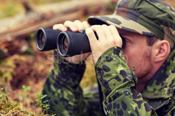 молодые солдата охотник лес охота войны Сток-фото © dolgachov