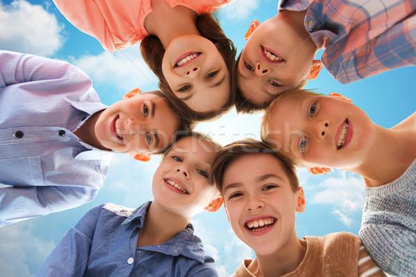 happy smiling children faces Stock photo © dolgachov